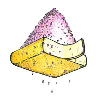 Raclette Käse Rosa Pfeffer Scheibe, 90g